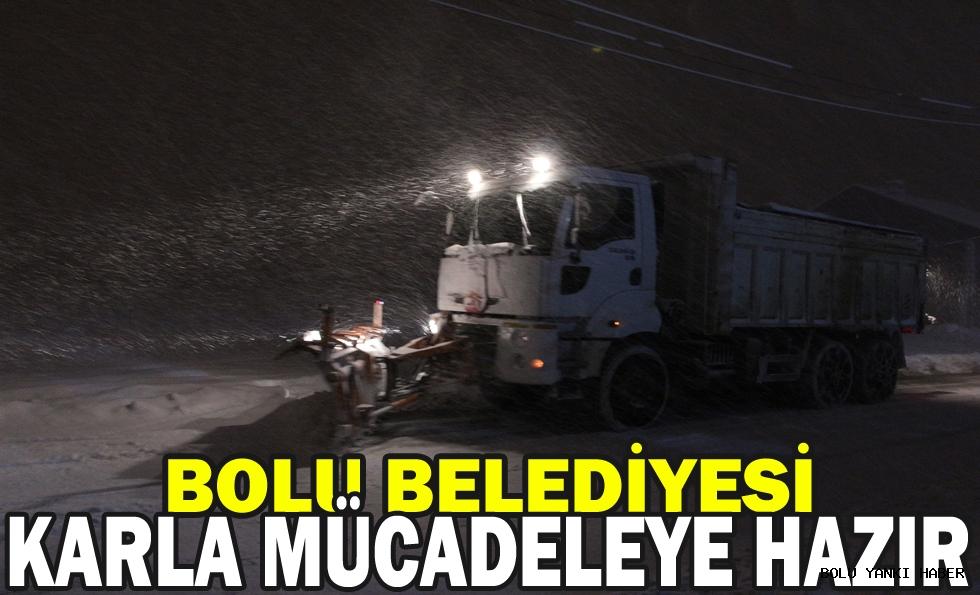 /Bolu Belediyesi karla mücadeleye hazır/