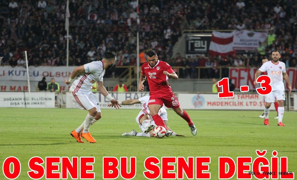 Boluspor: 1 - Gazişehir Gaziantep: 3
