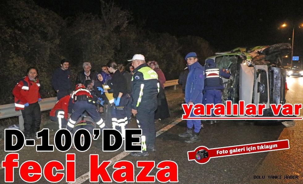 /D-100'de Feci Kaza/
