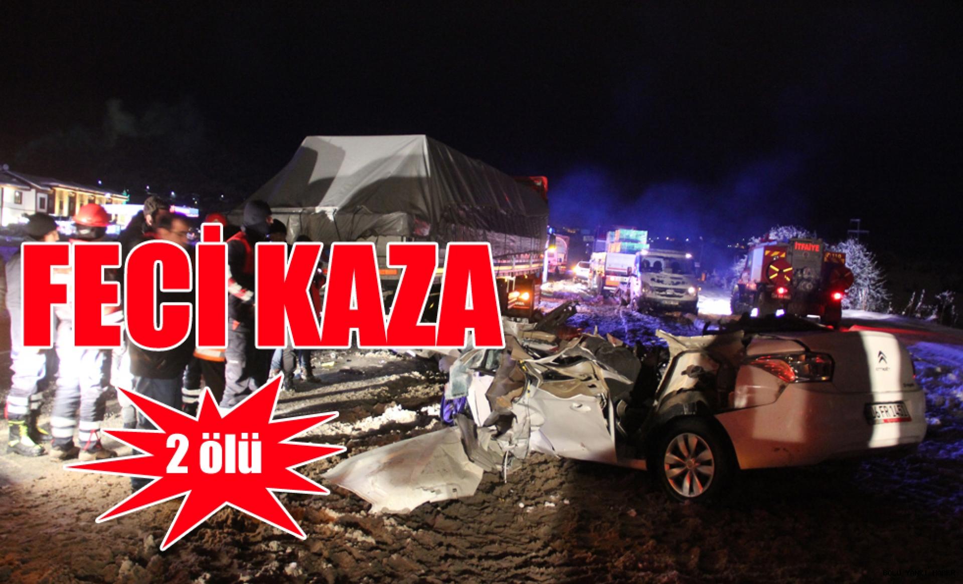 Trafik kazası: 2 ölü