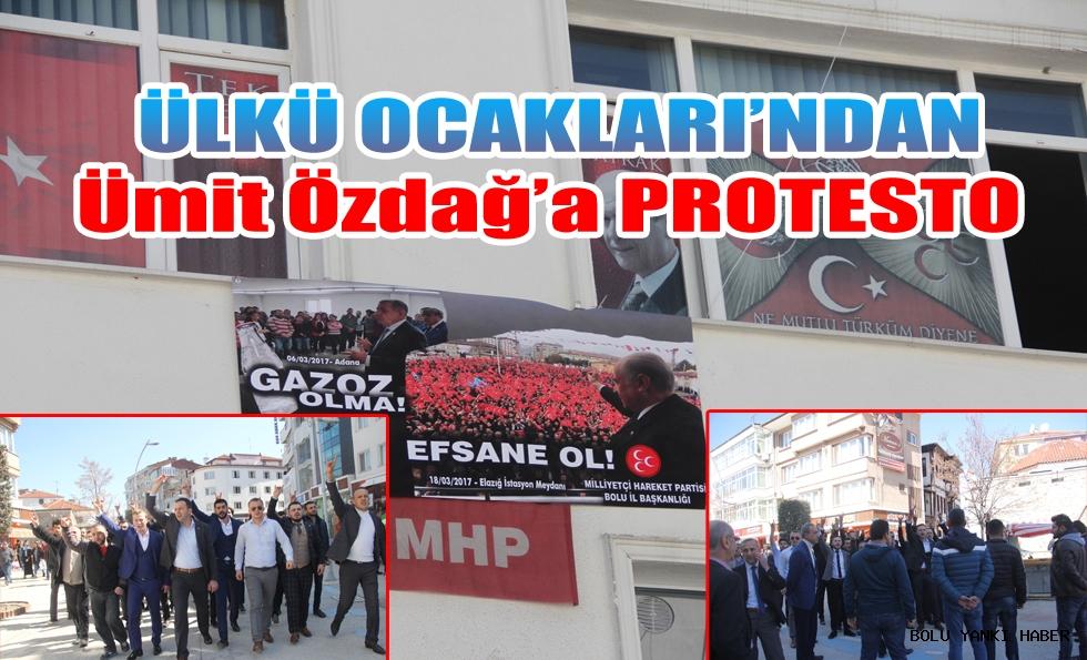 Ülkü Ocakları'ndan Ümit Özdağ'a Protesto