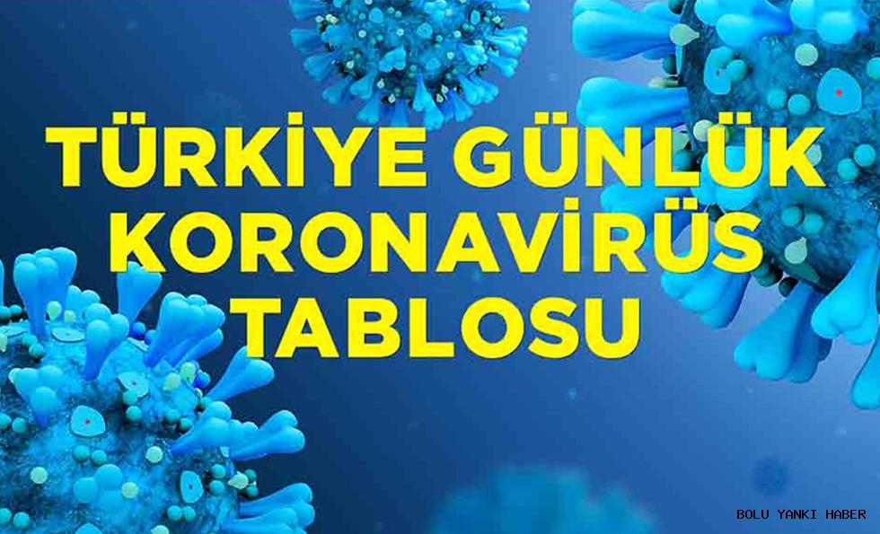 1 Mayıs Türkiye'nin koronavirüs tablosu