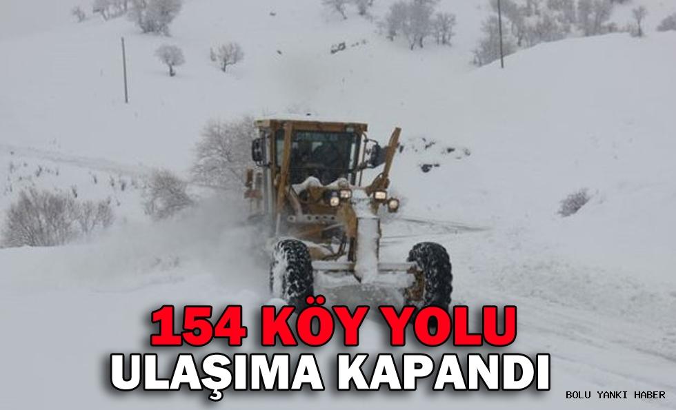 154 KÖY YOLU ULAŞIMA KAPANDI