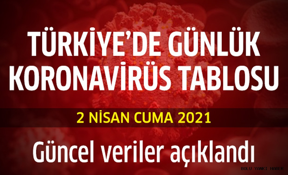 2 Nisan Türkiye'nin koronavirüs tablosu