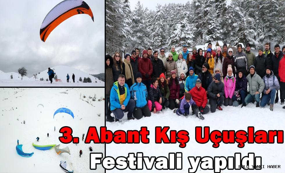 3. Abant Kış Uçuşları Festivali yapıldı