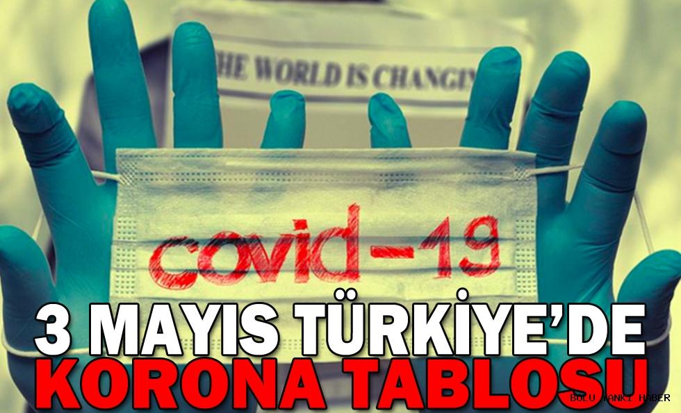 3 Mayıs Türkiye'de korona tablosu