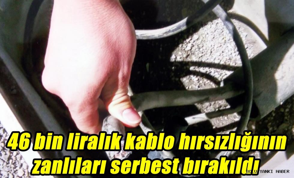46 bin liralık kablo hırsızlığının zanlıları serbest bırakıldı