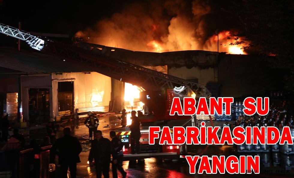 Abant su fabrikasında yangın