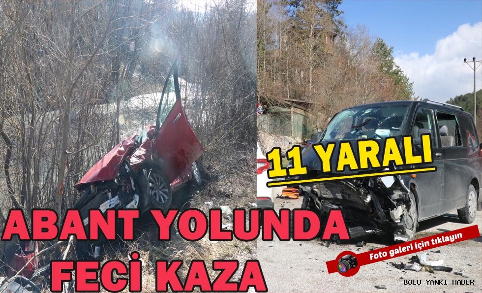 Abant Yolunda Feci Kaza; 11 Yaralı