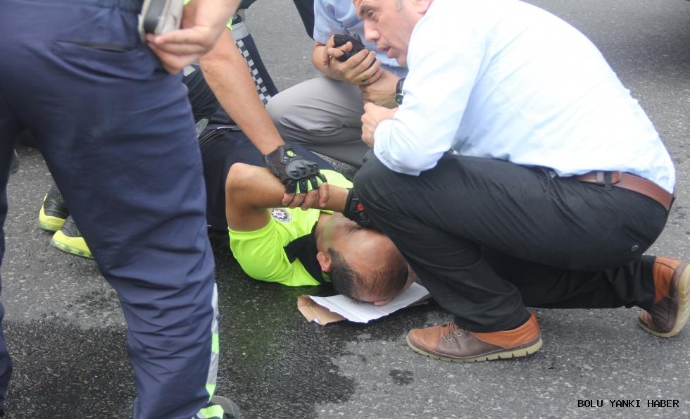 Adalet Yürüyüşü'nde korkutan kaza