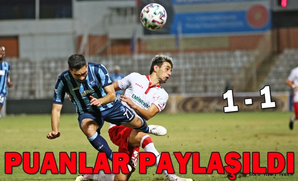 Adana Demirspor: 1 - Beypiliç Boluspor: 1