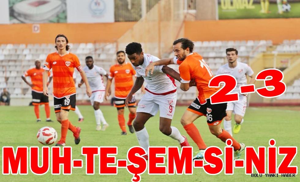 Adanaspor 2 - 3 Boluspor