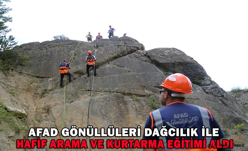 AFAD gönüllüleri dağcılık ile hafif arama ve kurtarma eğitimi aldı