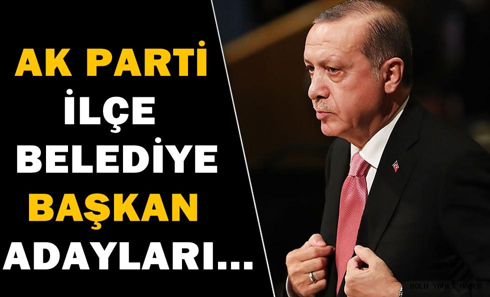 AK Parti İlçe Belediye Başkan Adayları