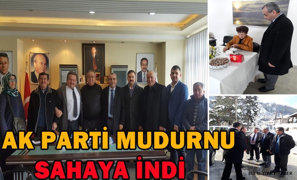 AK Parti Mudurnu Sahaya İndi