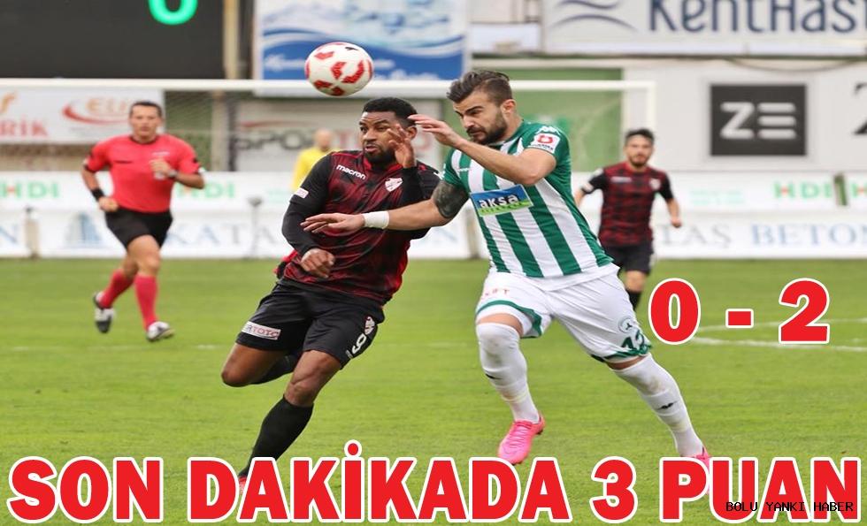 Akın Çorap Giresunspor 0 - 2 Boluspor