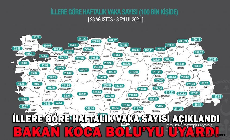 BAKAN KOCA BOLU'YU UYARDI