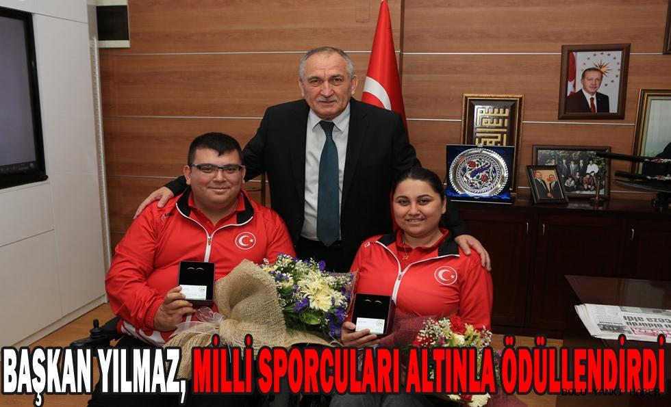 Başkan Yılmaz, milli sporcuları altınla ödüllendirdi