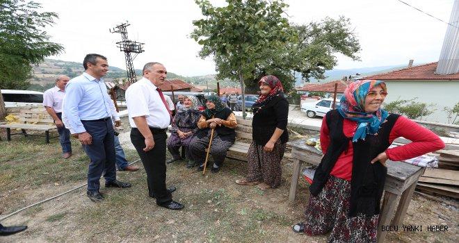 Başkan Yılmaz Pelitçik Köyünü ziyaret etti