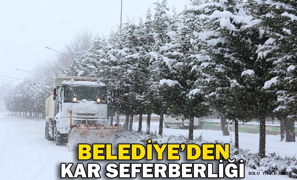 BELEDİYE'DEN KAR SEFERBERLİĞİ