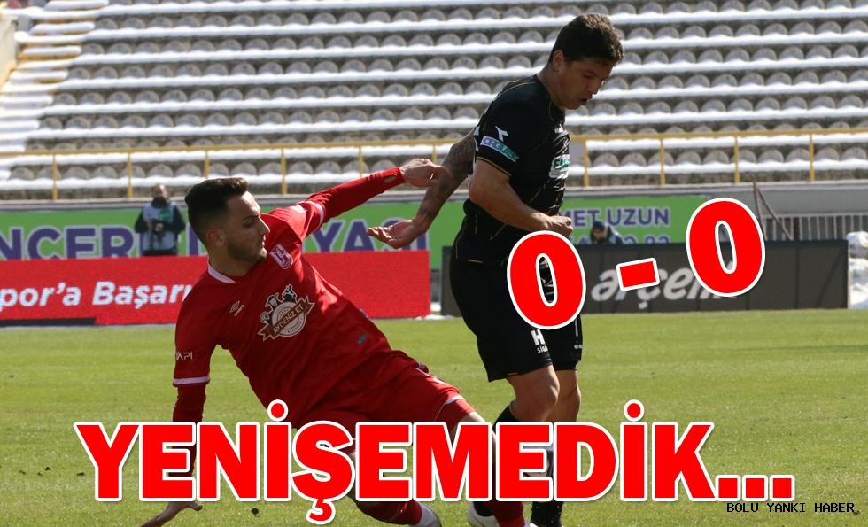 Beypiliç Boluspor: 0 - Aydeniz Et Balıkesirspor: 0