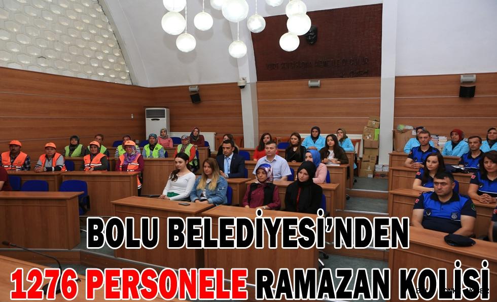 Bolu Belediyesi'nden 1276 personele Ramazan kolisi