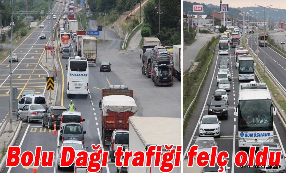 Bolu Dağı trafiği felç oldu.