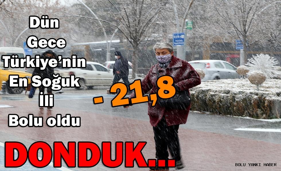 Bolu, eksi 21,8 dereceyle  Türkiye'nin en soğuk ili oldu