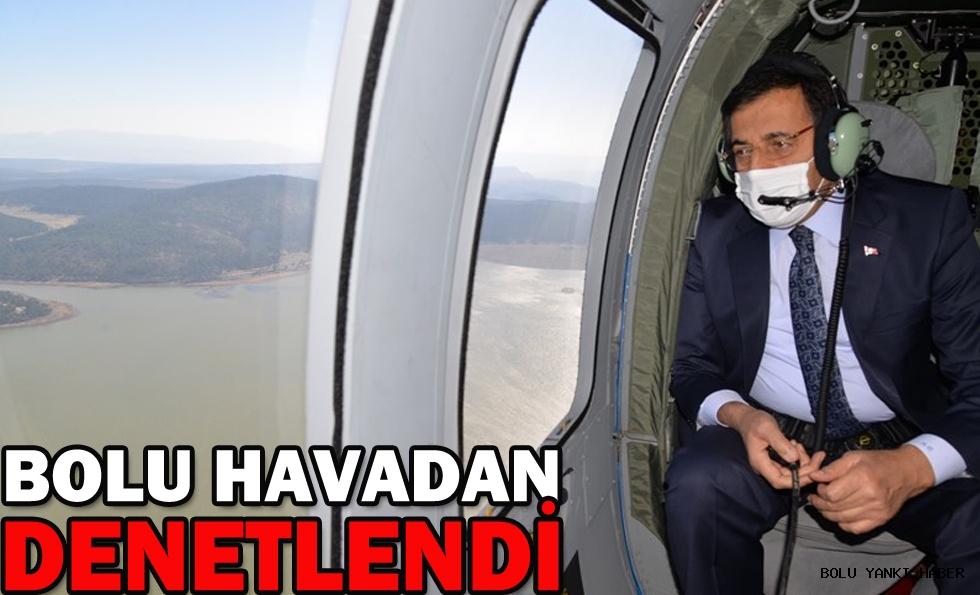 BOLU HAVADAN DENETLENDİ