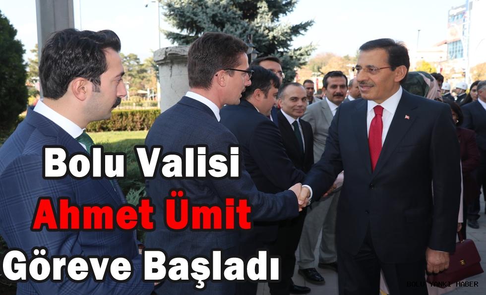 Bolu Valisi Ahmet Ümit, göreve başladı