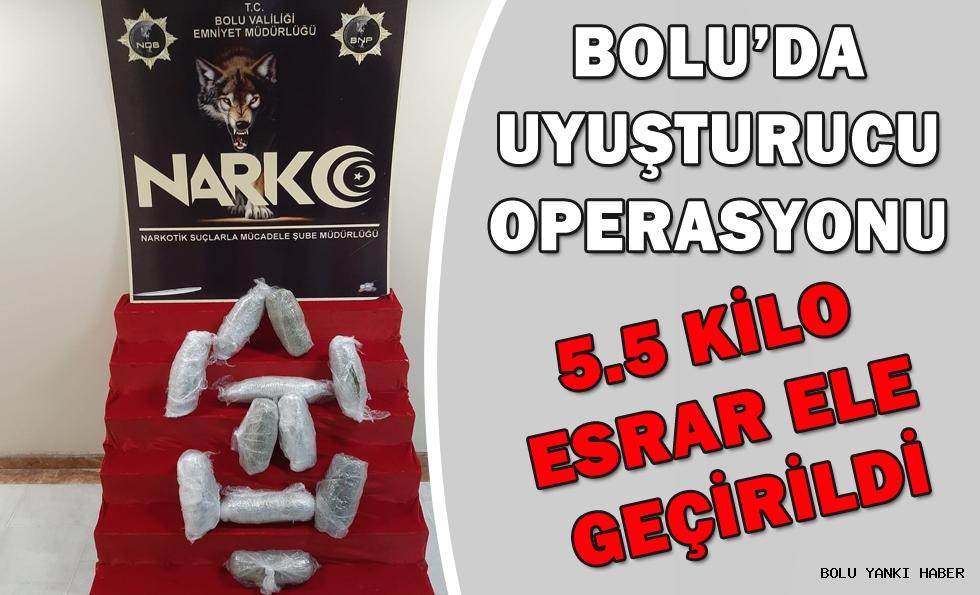 Bolu'da 5 kilo 350 gram esrar ele geçirildi