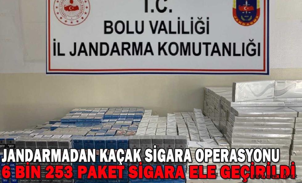 Bolu'da 6 bin 253 paket kaçak sigara ele geçirildi