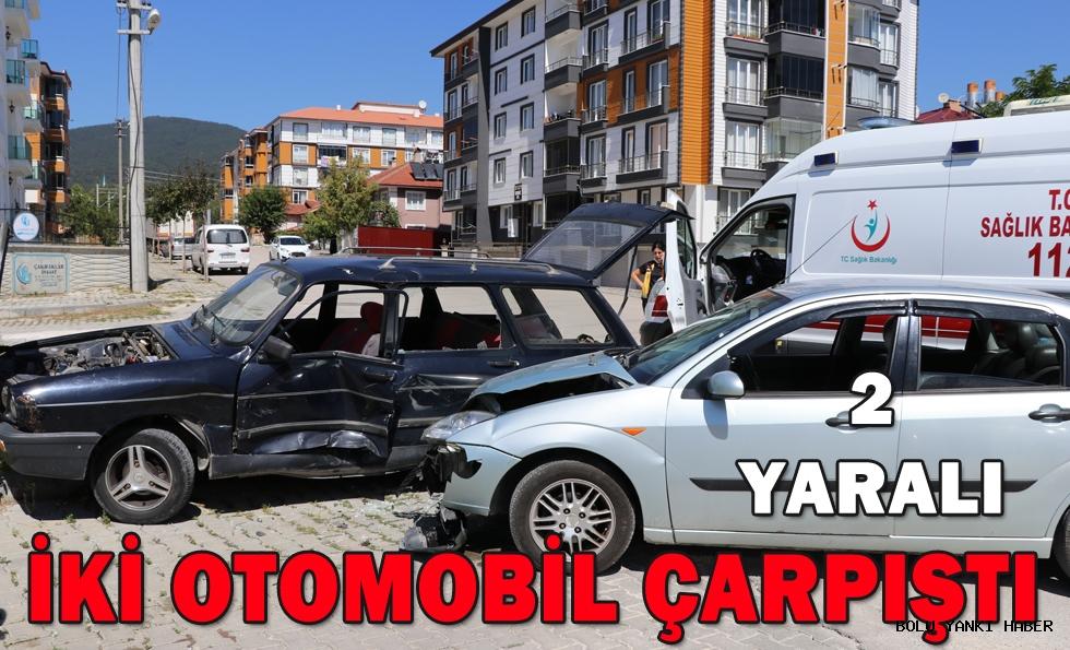 Bolu'da iki otomobil çarpıştı: 2 yaralı!