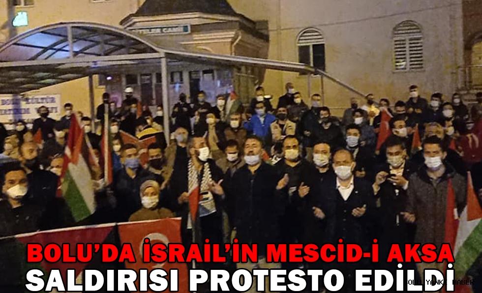 Bolu'da İsrail'in Mescid-i Aksa saldırıları protesto edildi