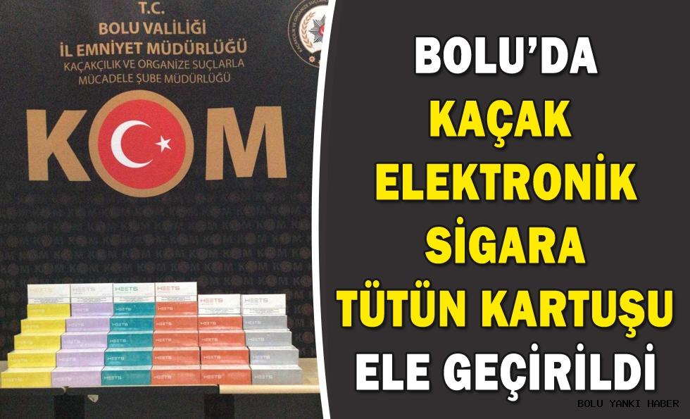 Bolu'da kaçak elektronik sigara tütün kartuşu ele geçirildi