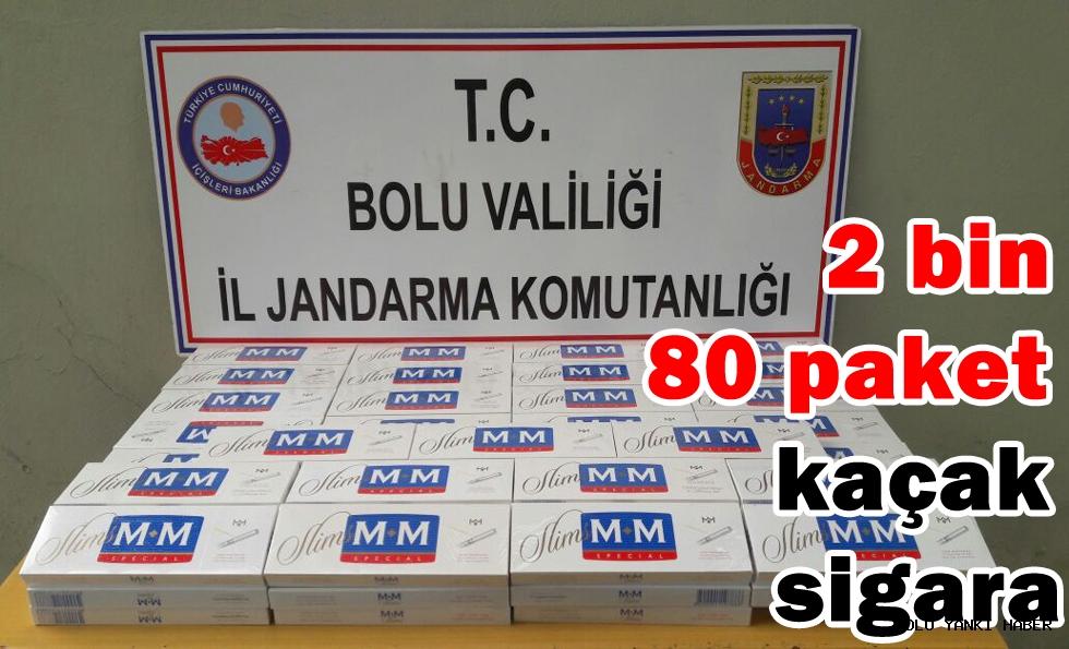 Bolu'da kaçak sigara operasyonu!.