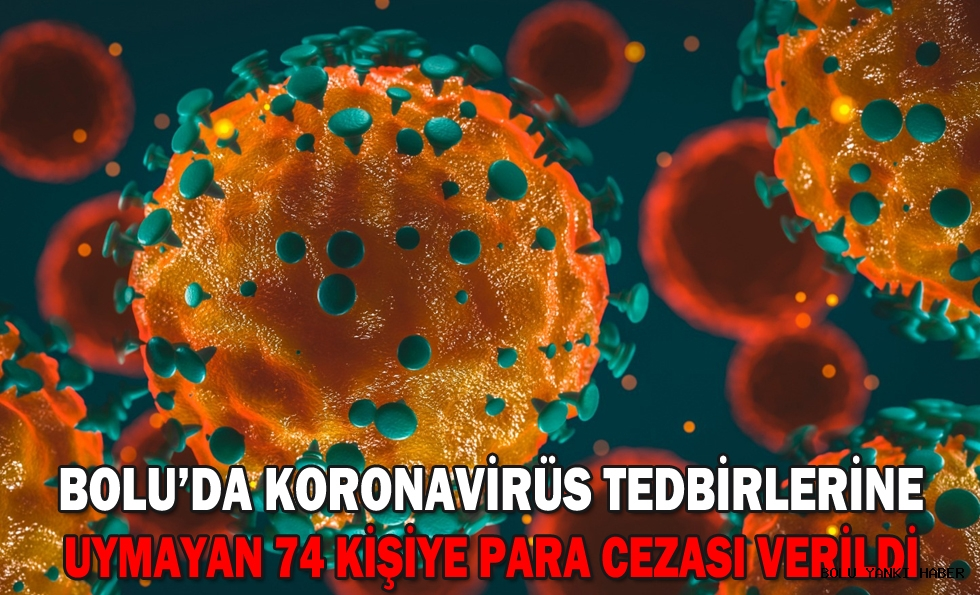 Bolu'da koronavirüs tedbirlerine uymayan 74 kişiye para cezası verildi