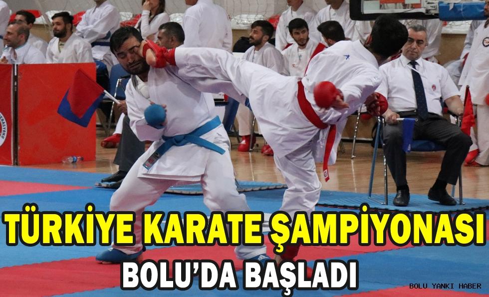 Bolu'da Kulüpler Türkiye Karate Şampiyonası başladı