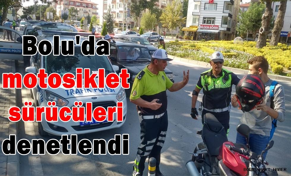 Bolu'da motosiklet sürücüleri denetlendi
