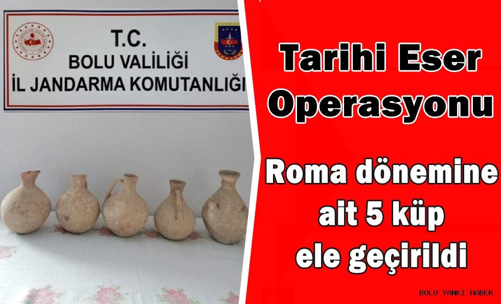 Bolu'da Roma dönemine ait 5 küp ele geçirildi