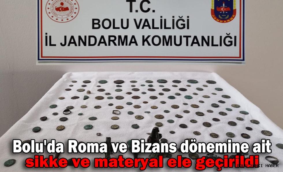Bolu'da Roma ve Bizans dönemine ait sikke ve materyal ele geçirildi