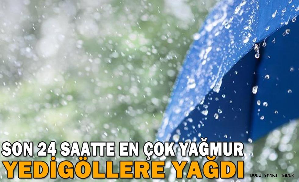 Bolu'da son 24 saatte en çok yağmur Yedigöller'e yağdı