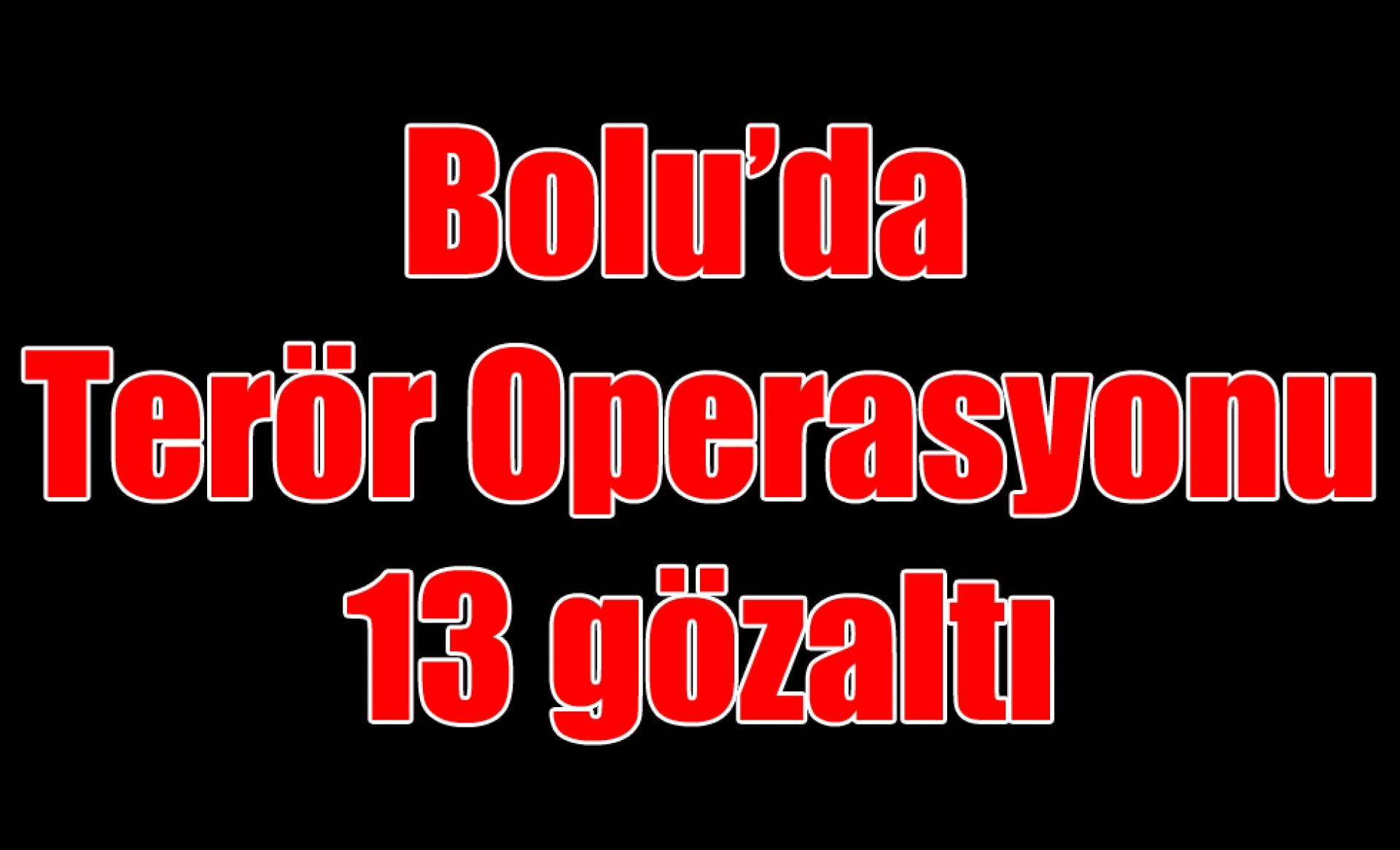 Bolu'da terör operasyonu: 13 gözaltı