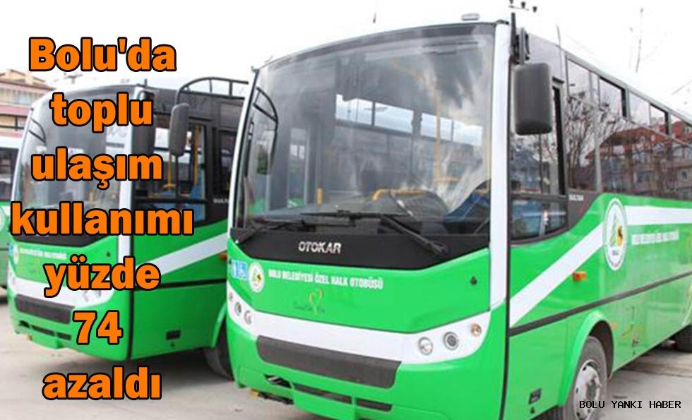 Bolu'da toplu ulaşım kullanımı yüzde 74 azaldı