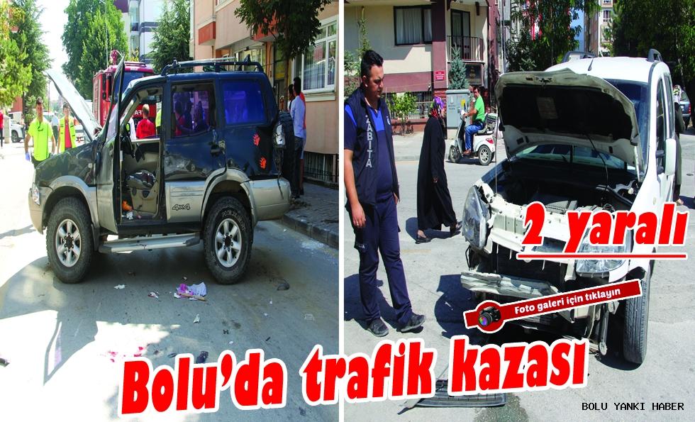 Bolu'da trafik kazası: 2 yaralı !