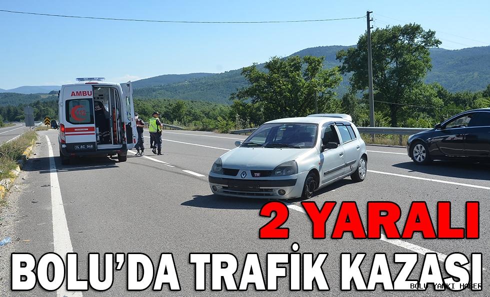 BOLU'DA TRAFİK KAZASI: 2 YARALI(!)