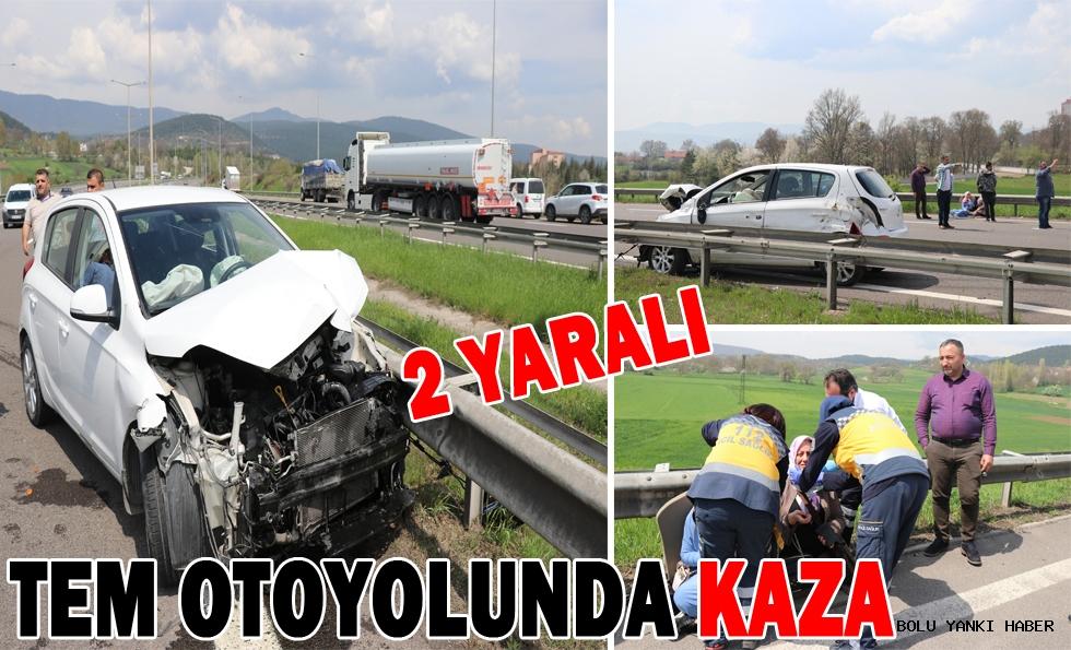 Bolu'da trafik kazası: 2 yaralı!!!