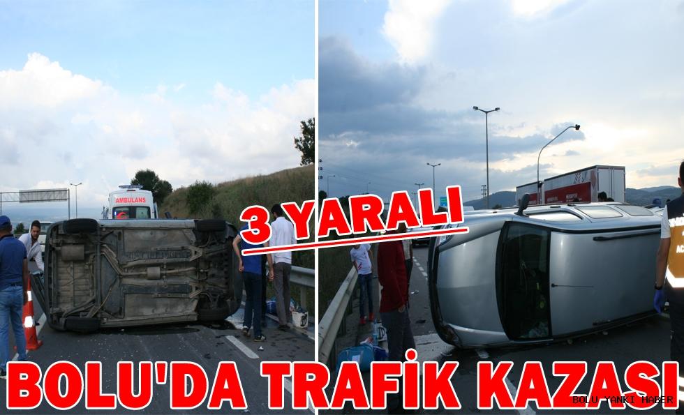 Bolu'da trafik kazası: 3 yaralı....