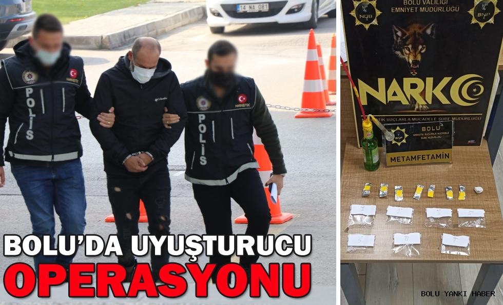 Bolu'da uyuşturucu maddeyle yakalanan şüpheli tutuklandı