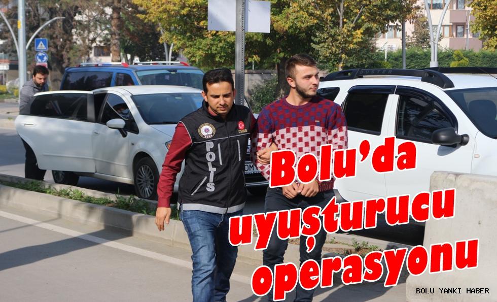 Bolu'da uyuşturucu operasyonu...